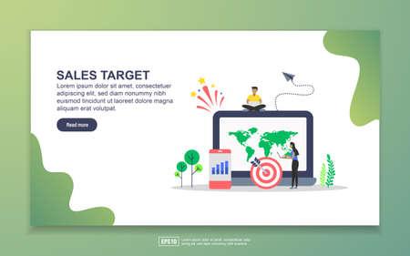 Modello di pagina di destinazione dell'obiettivo di vendita. Moderno concetto di design piatto di progettazione di pagine web per sito Web e sito Web mobile. Facile da modificare e personalizzare.