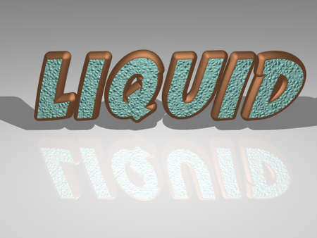 3D illustration of liquid in colorful text from a realistic perspective, ideal image for the conceptual display of the topic. background and abstract