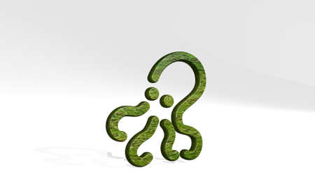 octopus made by 3D illustration of a shiny metallic sculpture casting shadow on light background. animal and cartoon