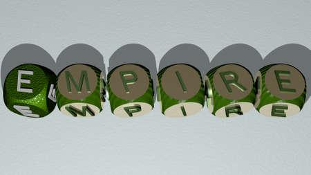 combination of empire built by cubic letters. Reklamní fotografie