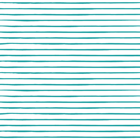 Decorative repeat seamless pattern with horizontal handdrawn lines. Hand painted blue stripes on white background. Trendy endless texture for digital paper, fabric, backdrops, wrapping