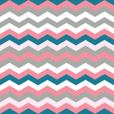 Blauwe, grijze en roze kleur Chevron naadloze herhalingspatroon. Blauwe, grijze en roze chevron, zigzagpatroon. Eindeloze textuur voor digitaal papier, stof, achtergronden, inwikkeling.