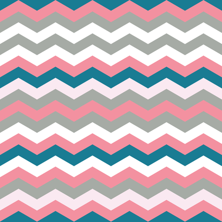 Blue, grey and pink color Chevron repeat Seamless Pattern. Blue, grey and pink chevron, zig zag pattern. Endless texture for digital paper, fabric, backdrops, wrapping.