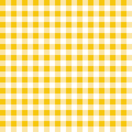 Yellow and white plaid vector background. Seamless repeat checkered pattern.