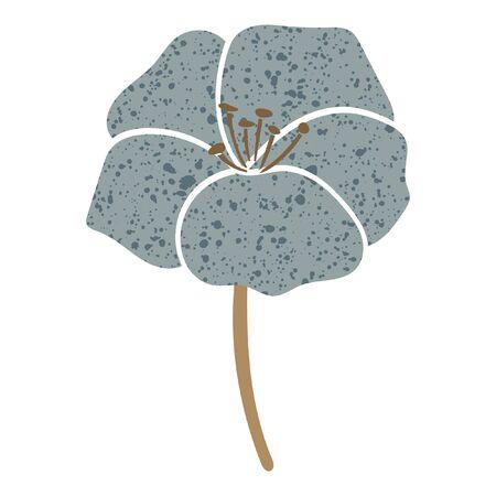 Blue vector floral illustration. Romantic geranium flower. 矢量图像