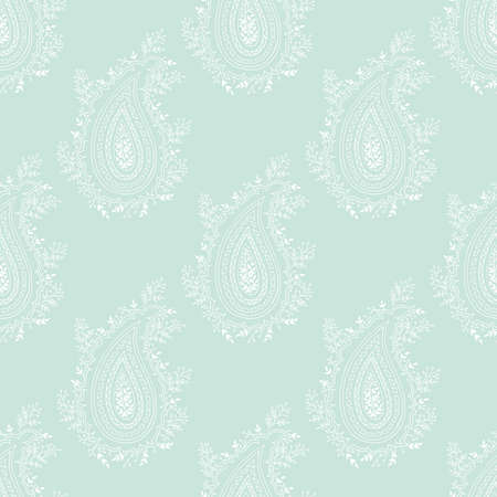 Vector romantic paisley repeat seamless pattern. Traditional historic pattern. Trendy endless texture for digital paper, fabric, backdrops, wrapping paper and fabric.