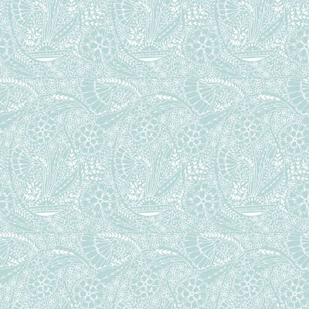 Vector paisley repeat seamless pattern. Traditional historic pattern. Trendy endless texture for digital paper, fabric, backdrops, wrapping paper and fabric.