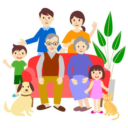 Family Sofa Three generations