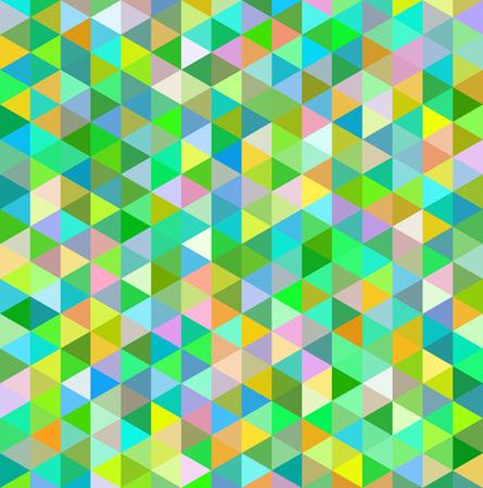 Mosaic triangle green