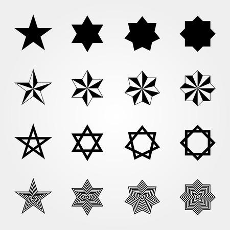 Ensemble de formes d'étoiles