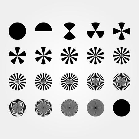 Set of Circle division shapes Çizim