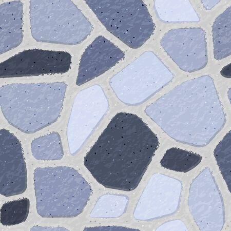 Stone Masonry. Seamless brick wall texture background. Blue bricks. Vector illustration. Illustration