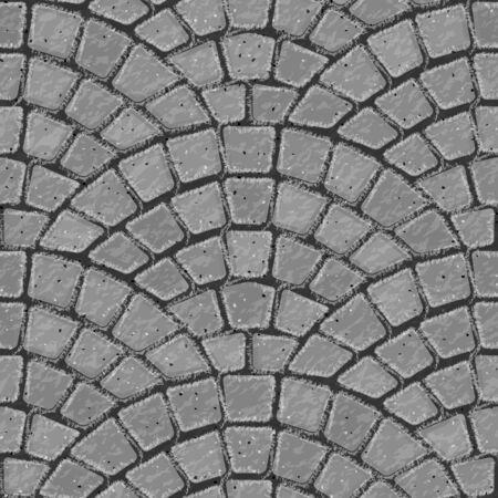 Pflasterstein. Nahtloser Ziegelsteinpflaster-Beschaffenheitshintergrund. Graue Ziegel. Vektor-Illustration.