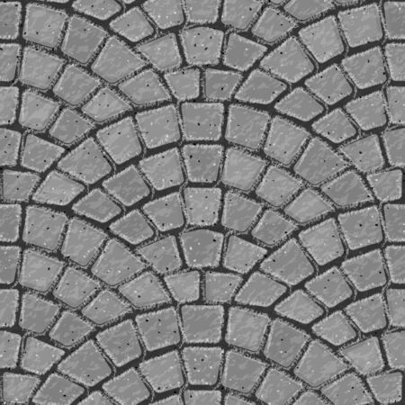 Paving stone. Seamless brick pavement texture background. Gray bricks. Vector illustration.
