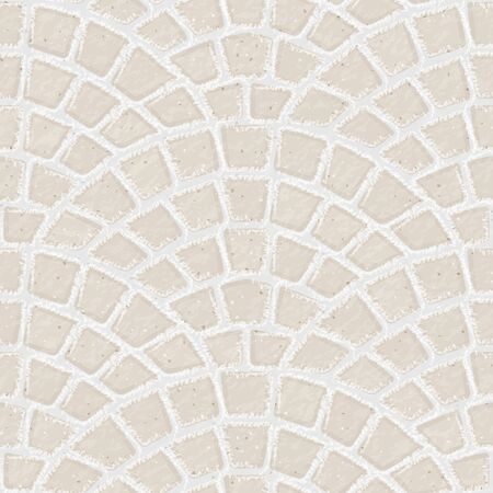 Paving stone. Seamless brick pavement texture background. White bricks. Vector illustration.