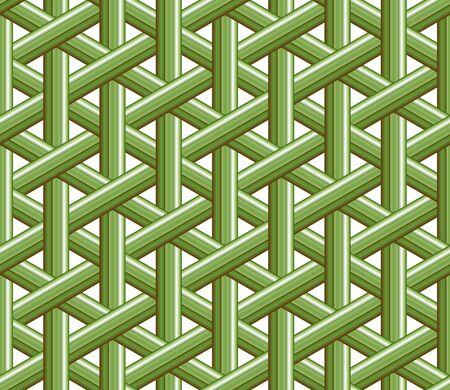 Bamboo weave. Seamless weaving basket pattern texture background. Vector illustration. Ilustração