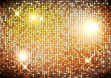 Sparkling spangles. Shiny glowing particle sequins. Abstract background. Vector illustration. Vettoriali