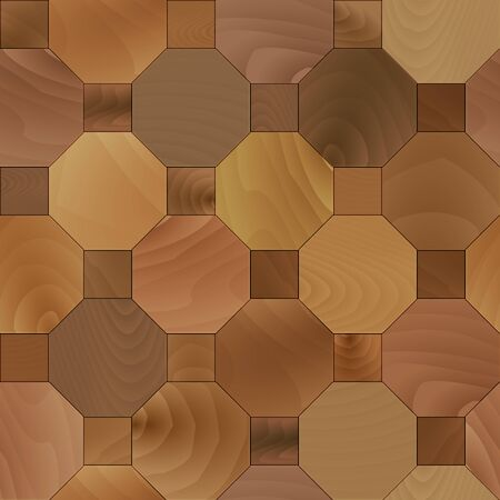 Wooden panel. Seamless pattern of parquet boards. Wood floor tiles. Vector illustration.