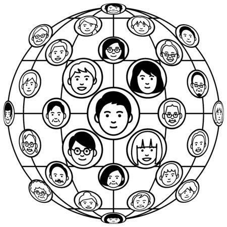 Social network concept. Vector illustration. Vectores
