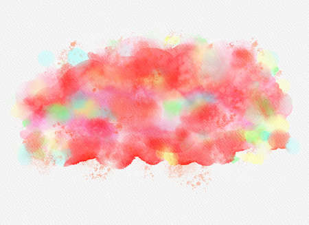 Abstract watercolor drawing on white background. Graphic design elements. Painted in red color. Banco de Imagens