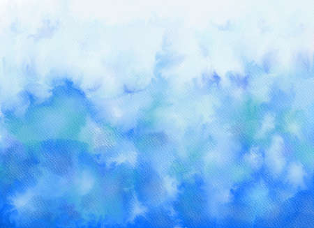 Abstract watercolor background. Graphic design elements. Painted in blue color. Banco de Imagens