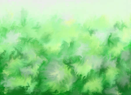Abstract watercolor background. Graphic design elements. Painted in green color.