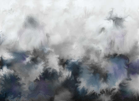 Abstract watercolor background. Graphic design elements. Painted in black color. Banco de Imagens