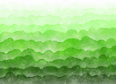 Abstract watercolor gradient background.Graphic design elements. Painted in green color. Banco de Imagens