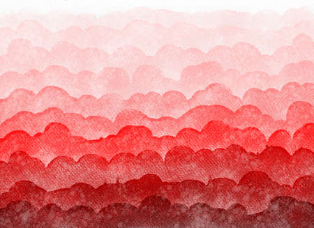 Abstract watercolor gradient background.Graphic design elements. Painted in red color.