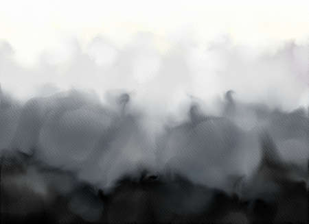 Abstract watercolor gradient background.Graphic design elements. Painted in black color.