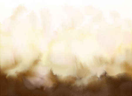 Abstract watercolor gradient background.Graphic design elements. Painted in brown color.