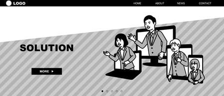 Web page template of business. Landing page concepts for website development. Vector illustration.