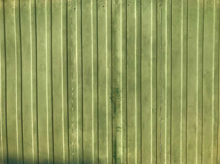 Bright green background fence strips.