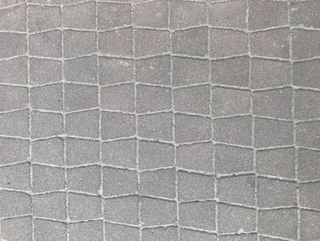 background texture grey paving tile. Stock Photo