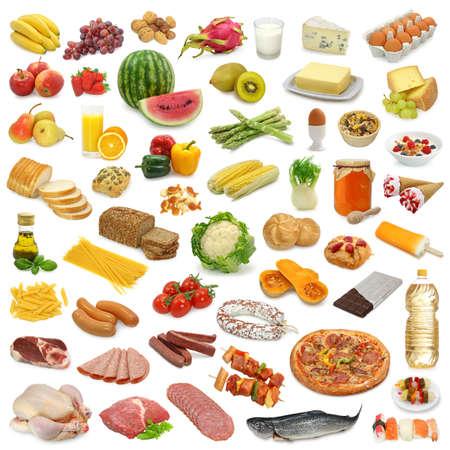 mantequilla: Recogida de alimentos aislados sobre fondo blanco