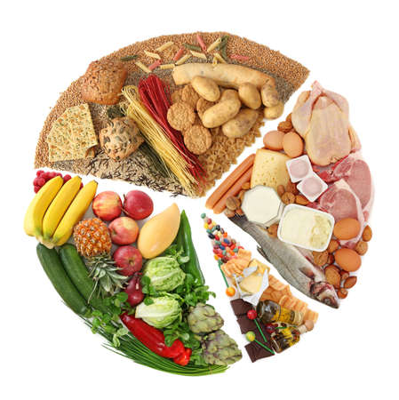 piramide alimenticia: Pir�mide alimentaria aisladas en blanco Foto de archivo
