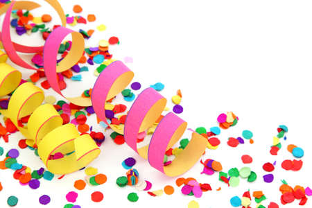 confetti background:  Party decoration isolated on white background