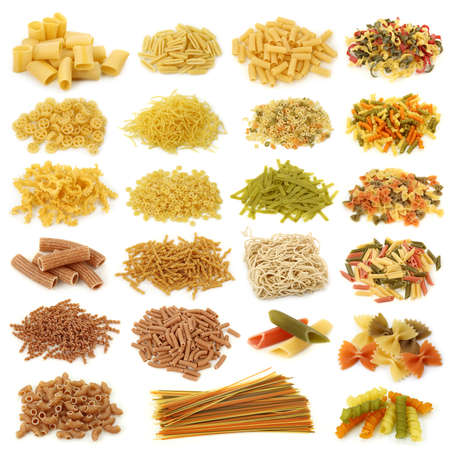 Pasta collection isolated on white background  photo