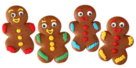 Gingerbread men isolated on white background  photo