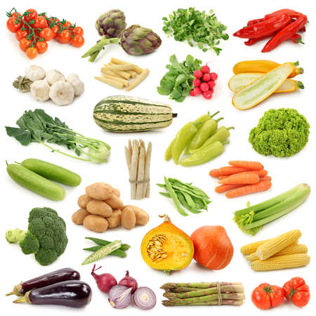 vegetable:  Vegetable collection isolated on a white background.