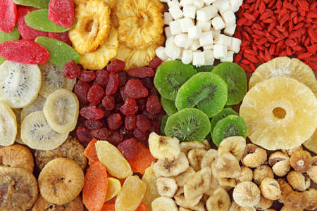 Mix of dried fruits close up  photo