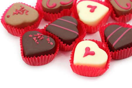 Chocolate truffles isolated on white background  photo