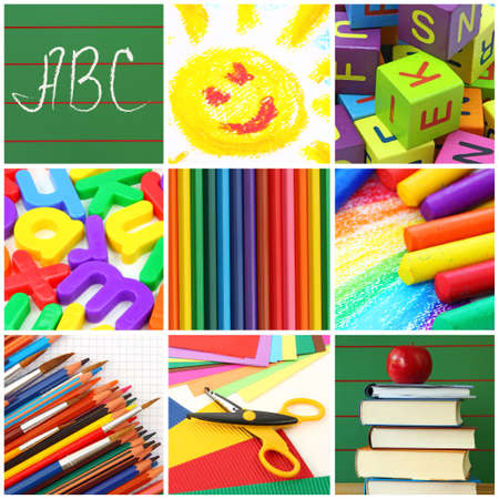 Back to school collage Stock Photo - 8917757
