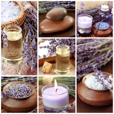 Lavender spa collage Stock Photo - 8917759