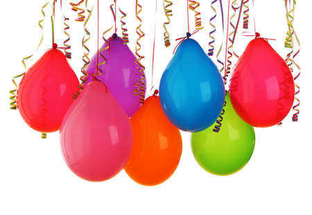 Colorful balloons isolated on white background Stock Photo - 9326177