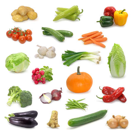 vegetable collection isolated on a white photo
