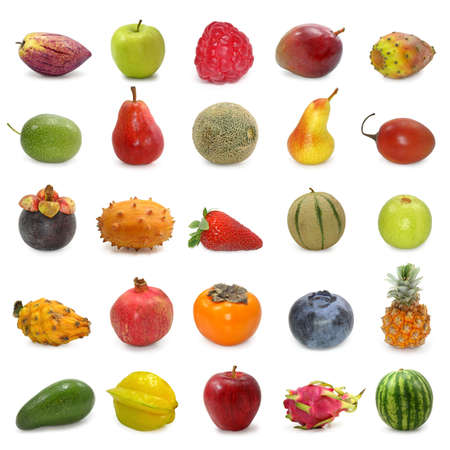tamarillo: fruits collection isolated on white background