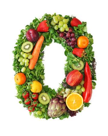 lettre de l alphabet: Alphabet de fruits et de l�gumes - lettre o