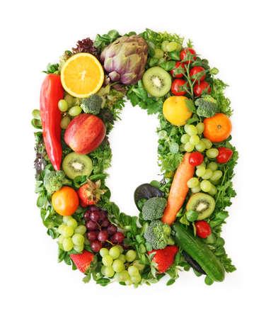 q: Alfabeto di frutta e verdura - lettera q