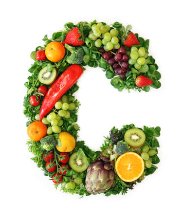 Fruit and vegetable alphabet - letter C Stock Photo - 9402375